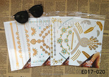 2015 Dearbeauty colorful & metallic temporary tattoo/ Mix color gold bling tattoo /FASHION DESIGN Rose Gold FLASH TATTOO
