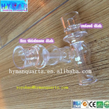 wholesale price 2mm thickness raised dish quartz E-nail& D-nail ,also sell mini control box and coil heater