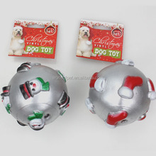 Wholesale dog toy squeakers eco-products Xmas vinyl dog ball,pet supply ,good quality dog toy
