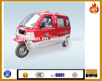China made motorized closed passenger motocicleta de tres ruedas