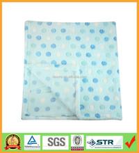 Blue Spot Super Soft Plush Fleece Baby Blanket
