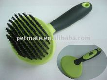 Nylon bristle brush for pet shower
