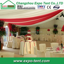 Outdoor winter party tent curtain decoration