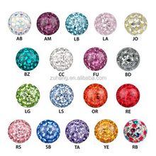 Body Jewelry Parts Wholesale Piercing Replacement Screw Ball Epoxy Crystal Coat Ferido Balls