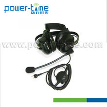 Heavy Duty Noise Reduction helmet walkie talkie Headset Headphone for pilot (PTE-740)