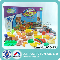 Hot selling happy play 67pcs fruits and vegetables funny food plastic children kitchen toy