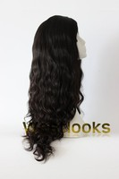 High Quality Without Knotting Long Virgin Hair Dark Brown Wavy Mongolian Remy Hair Kosher Wigs Wholesale