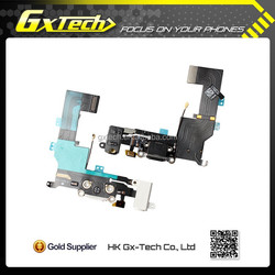 Best Selling for Black and White iPhone 5S Charging Port Connector Flex Cable for Apple iPhone 5S Charging Dock Ribbon Cable