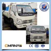 China foton 4x2 diesel fuel mini dumper truck 3ton capacity good price sale