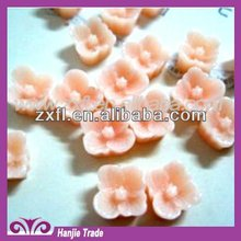 2012 Beautiful 8mm resin flower blossom sticker cabochons for nail art or mobile phone case
