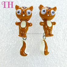 make your own resin coffee cat shape long drop wholesale ladies earrings designs pictures