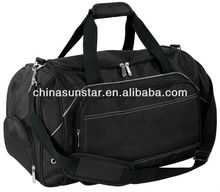 2014 trendy 1680D polyester gym duffel bag in black color