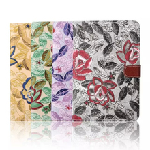 Cowboy flower case for iPad mini 4 with card slots
