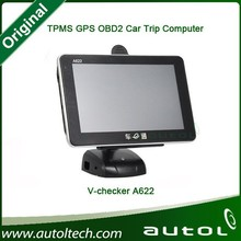 """Newest 5"""" Smart Trip Computer + GPS + Oil statistics, HD 800*480 8G Win CE 6.0 OS ARM9 600MHZ , A622, Universal OBD Car doctor"""