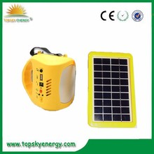 4.5W LED 3.5W panel with FM,MP3,SD Portable and multi-functional energy-saving emergency led rechargable solar light