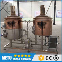 Red copper brew kettle 50L, 100L, 200L, 2-3 bbl electric brewing system/pilot brewing system