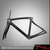 Many size choose carbon frame glossy finish can put logo on it road bike frame for Wholesale price