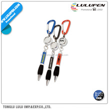 The Soft Grip Metal Promotional Pen With Carabiner And Retractor (Lu-Q00923)