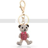Animal Crystal KeyChain for Girls Bowknot Toy Bear Wonderful Gift