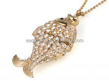 256tb fish shape jewelry usb flash drive/lock shape/diamond/necklace