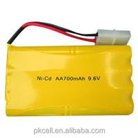 High quality Ni-CD AA battery pack 9.6V 700mah wholesale