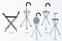 Folding stool walking stick/Walking Cane with chair function Walking aids seat sticks walking cane seat