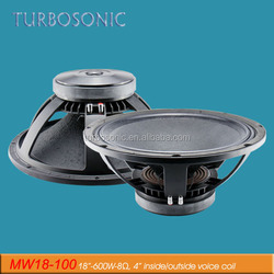 acoustic subwoofers 18'' voice coil 5'' speaker