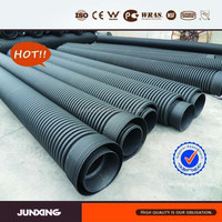 SN4 SN8 HDPE double wall corrugated pipe/water draining DWC pipe