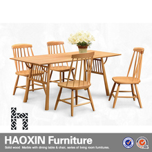 Luxury classical burlywood wooden dining room furniture set,european style dining set, dining table and chair