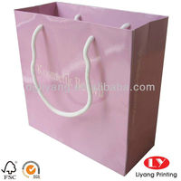 Custom printed glossy gift bag paper with string