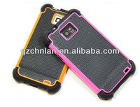 High protective triple-layer football design hybrid cover case for samsung i9100 galaxy s2
