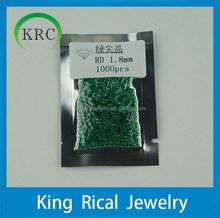 Nano Emerald Gems 1.8mm Round Brilliant Cut Semi-Precious stone