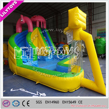 Unique popular stype slide city/multifuntional inflatable water slide/slide with basketball hoop