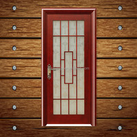 Half glass interior wood doors with solid wood & mix wood