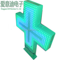 Alibaba italian cheapper price lighted sign non-programmable led cross display signs