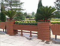 2015 hot sell wpc wood plastic composite outdoor garden flower box