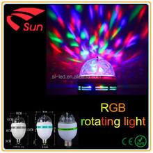 Hot Sale E27 LED Club Sound-activated Bulb,RGB Rotating bulb light