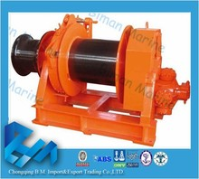 offshore equipment hydraulic winch ton for ship builders