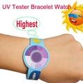 La chine à la mode bracelet uv du soleil, uv bracelet tester, détecteur de rayons uv
