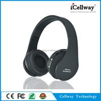 Cheap foldable black bluetooth headband headphone