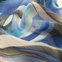 Digital print 100% polyester chiffon fabric