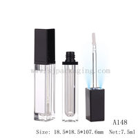 luxury lip gloss with led light and mirror wholesale led light lip gloss container