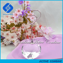 hand made cheap reception heart shape wedding favor table place card holders