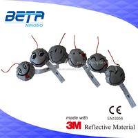 EN 13356 high quality 3M reflective soft safety keychian reflector for pedestrian