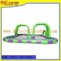 2015 new style outdoor interactive inflatable racing track sports game for adults play games