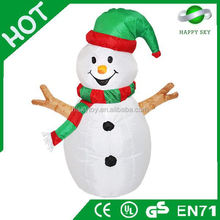 2015 Brand New Design Hot sale snowman christmas decoration inflatable, christmas inflatable product, christmas decoration