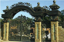 wrought iron main gate / single door / iron fence / iron garden gate