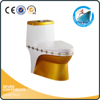 S-trap siphon American standard one piece Chinese WC toilet price