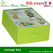 Promotional non-woven storage box,folding storage box,cardboard storage box with cartoon picture for home storage