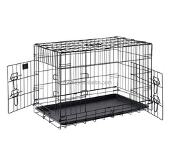 Hot Sales Cheap Two Door Metal Folding Dog Cage